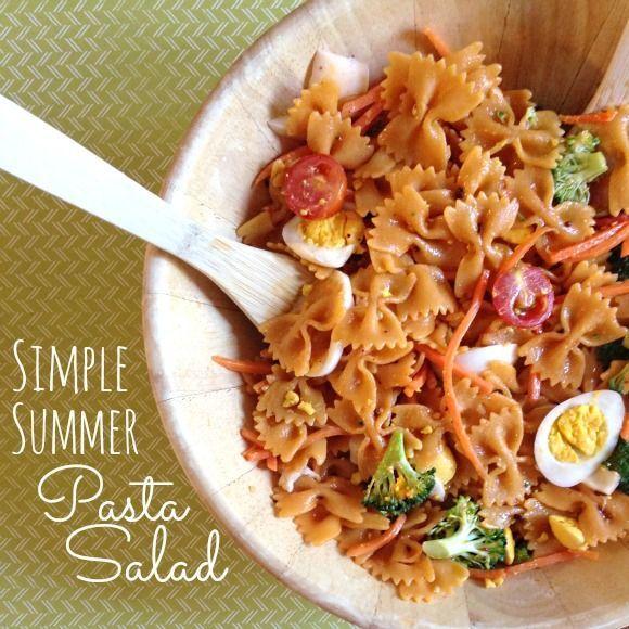 Simple Summer Pasta Salad Recipe   Pasta Recipes   Pinterest