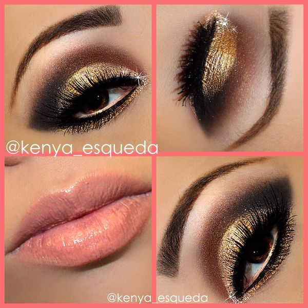 Gold+makeup+look Beauty Pinterest