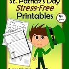 The St. Patrick's Day Stress-Free Printables packet offers a variety ...