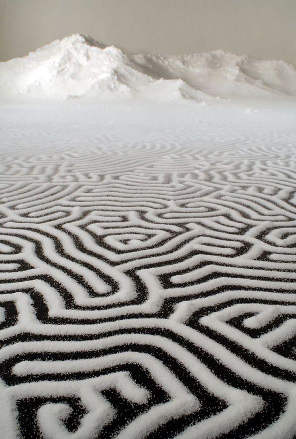 salt sculptures by Japanese Motoi Yamamoto
