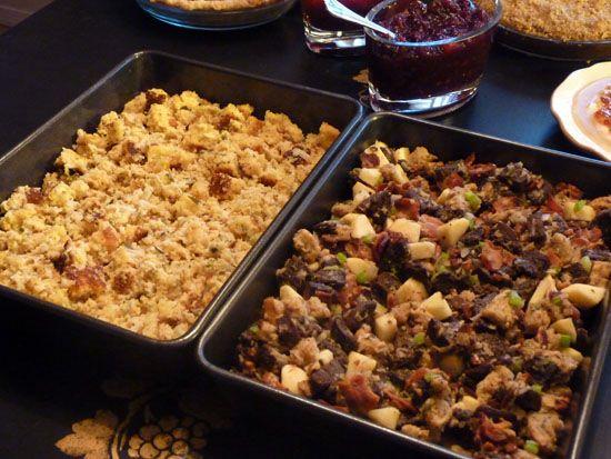 Bacon, Bourbon, Pumpernickel and Rye Stuffing | Recipe