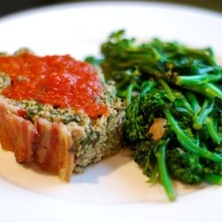 Super Porktastic Bacon-Topped Spinach and Mushroom Meatloaf ...