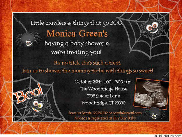 halloween baby shower invitations halloween themed baby shower