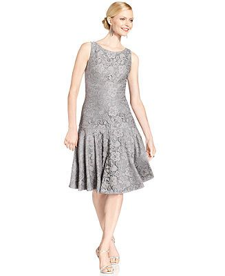 ... Dress, Sleeveless Lace Drop-Waist - Dresses - Women - Macy's