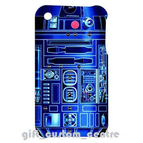 New R2D2 Star Wars Robot Apple iPhone 3G / 3GS Hardshell Case Cover