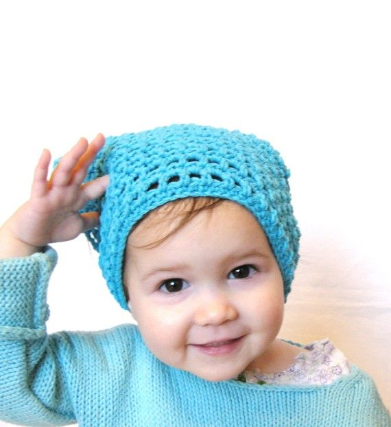 crocheted hair kerchief, fits toddler through adult
