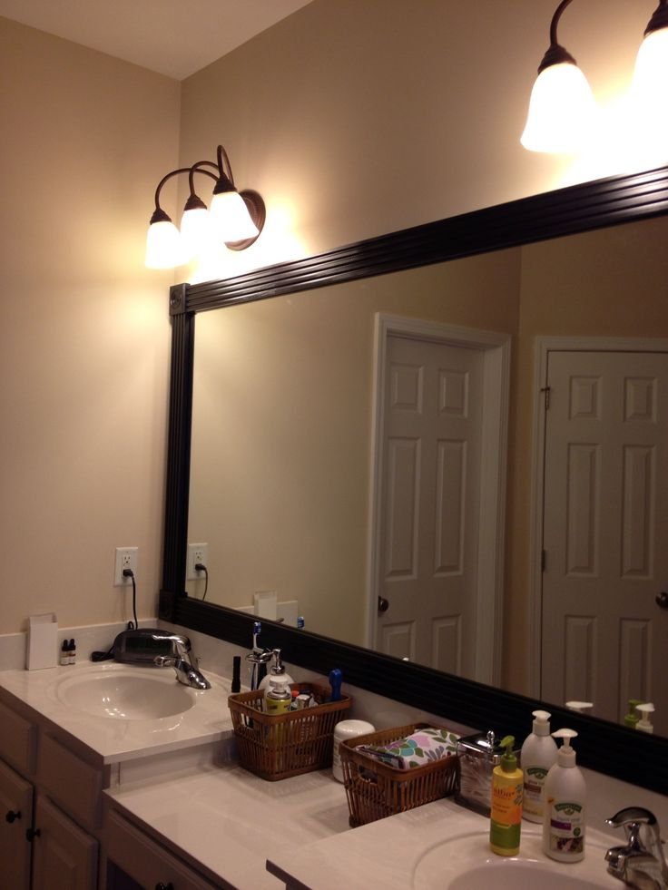 bathroom mirror framed bathrooms pinterest