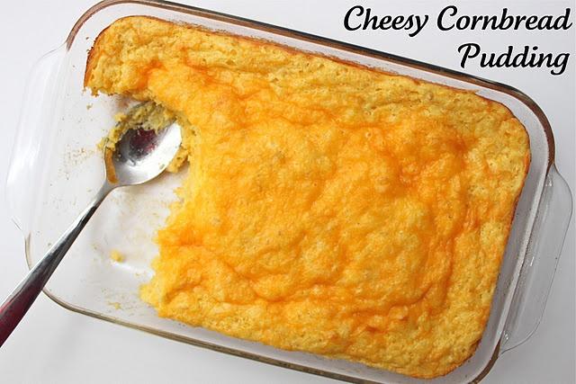 ... box cornbread mix, 1 cup sour cream, 2 eggs, 2 cups cheddar cheese