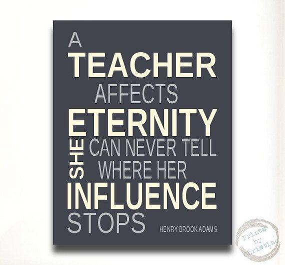 Modern Classroom Quotes : Unique teachers gift idea quote poem inpirational