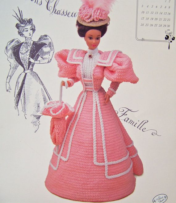 Vintage crochet pattern annies calendar bed doll by cynthiasattic 7