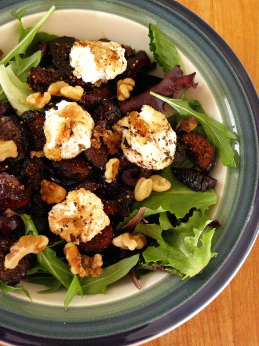 Fig and Walnut Salad with Goat Cheese | Cinnamon Freud | Pinterest