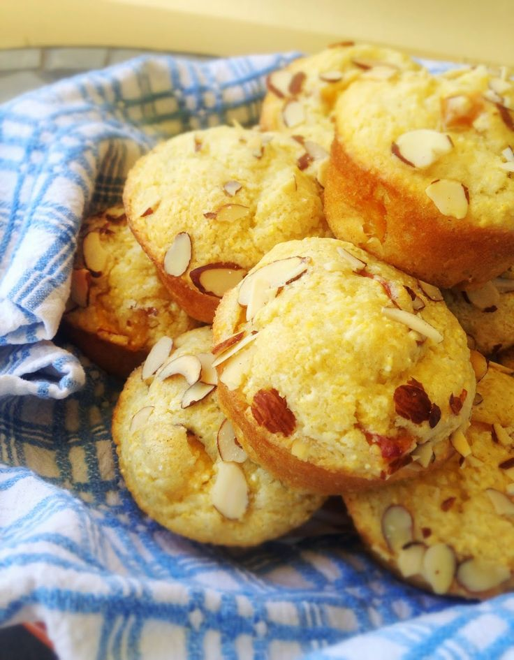Gluten Free Nectarine Polenta Muffins with Blackberry Butter