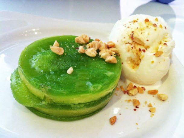 tapioca durian cake & coconut ice cream | varia 019 | Pinterest