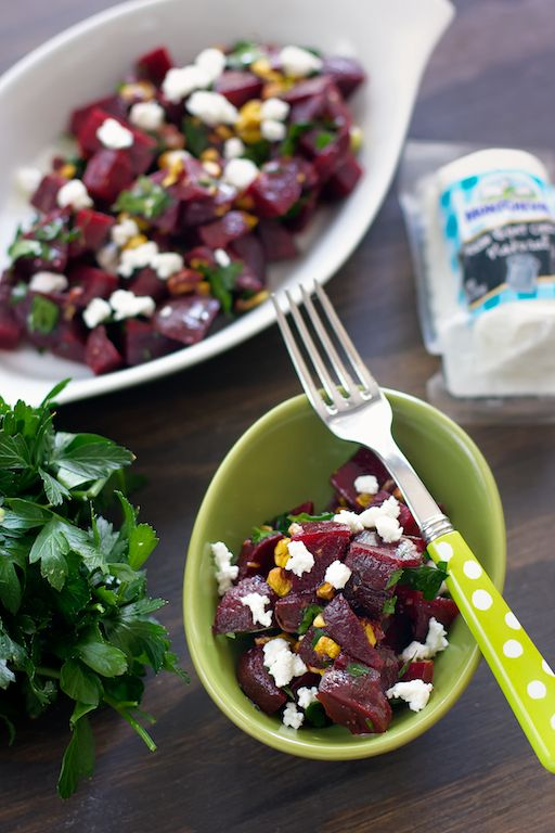 livelovepasta | Beet Salad with Pistachios and Crumbled Goat Cheese ...