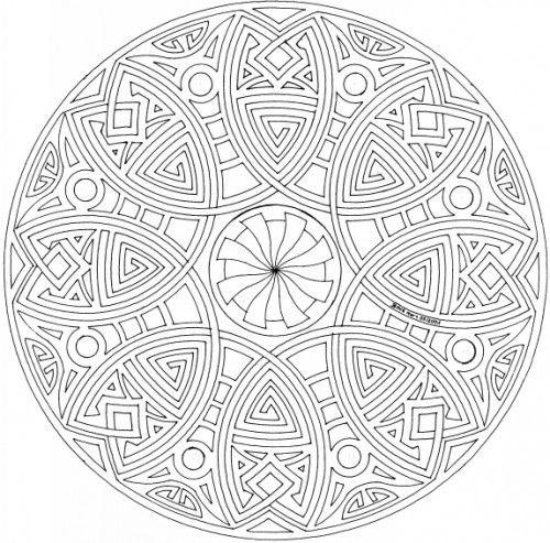 Pin Mandalas Dificiles Para Colorear Dibujos Imagixs ...