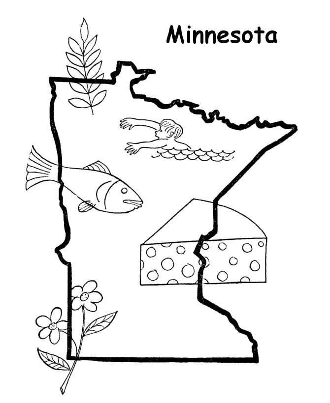 Minnesota free coloring pages for Minnesota state flag coloring page