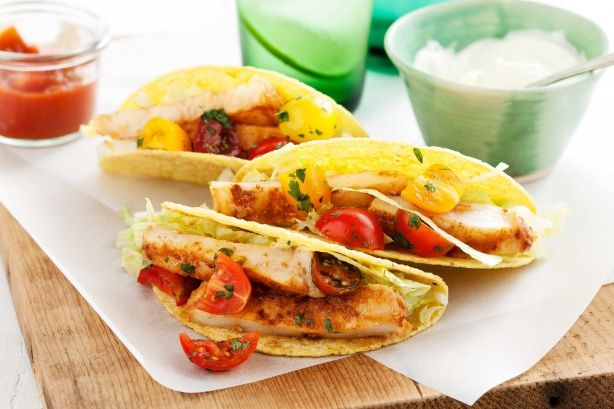 Fish tacos with tomato salsa | MASTERCHEF | Pinterest
