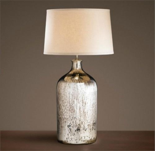 Mercury glass lamp restoration hardware for the home - Restoration hardware lamps table ...
