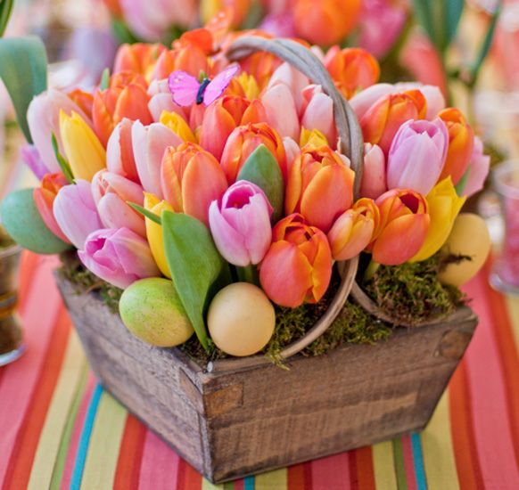 Preston Bailey spring centerpiece tulips flowers spring flowers