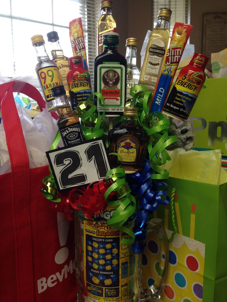 21st Birthday Gift Baskets For Him : St birthday gift for guys gifts him