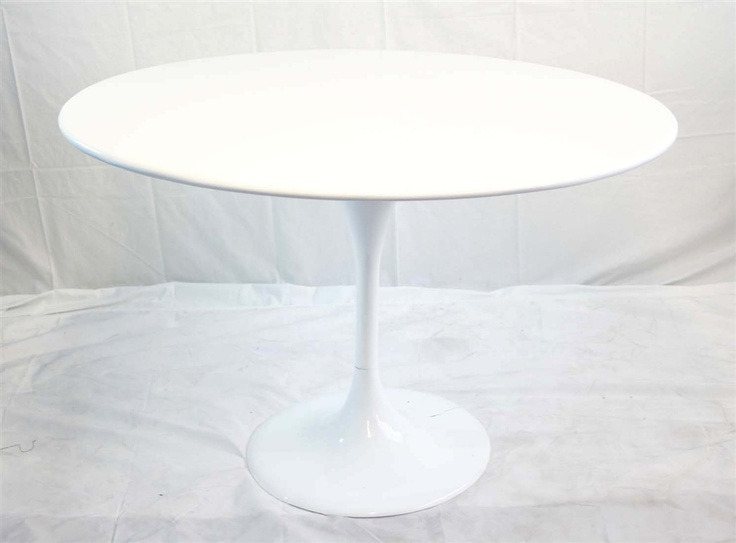 Modern White Round Pedestal Dining Table