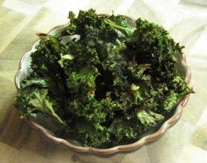 Lemon, Olive Oil, & Sea Salt Kale Chips- worth a try....