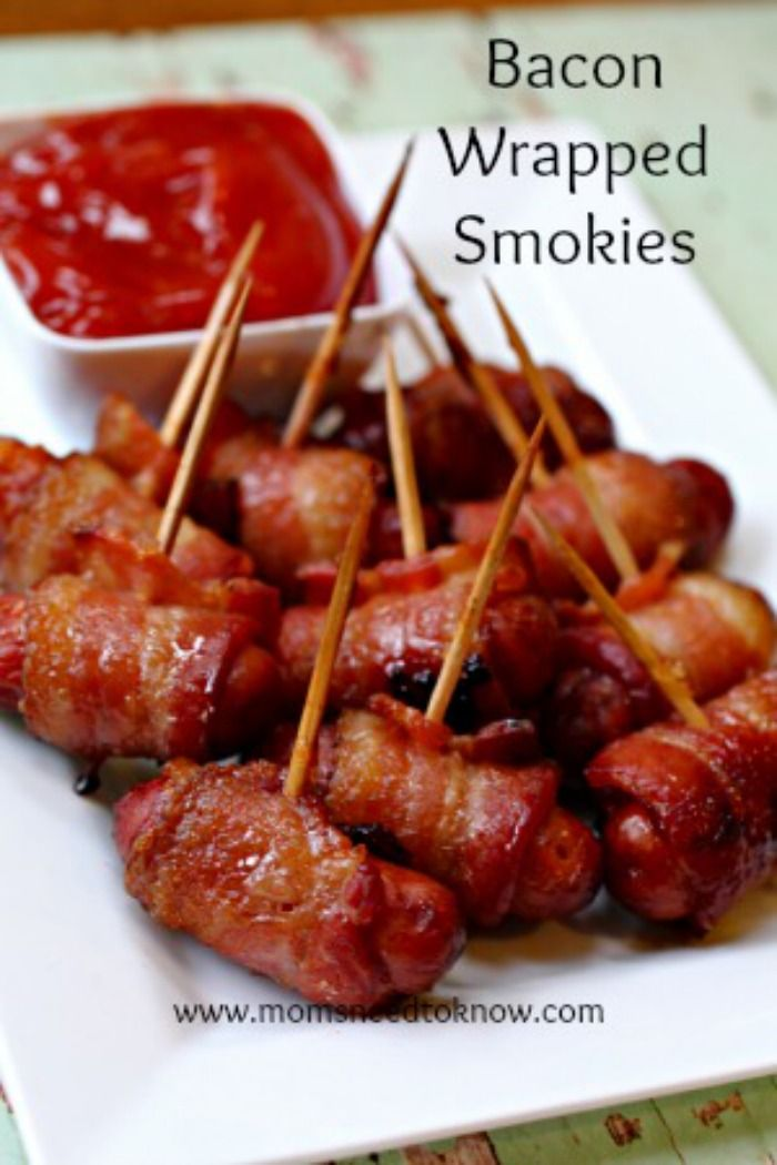 Bacon Wrapped Smokies with Brown Sugar Glaze