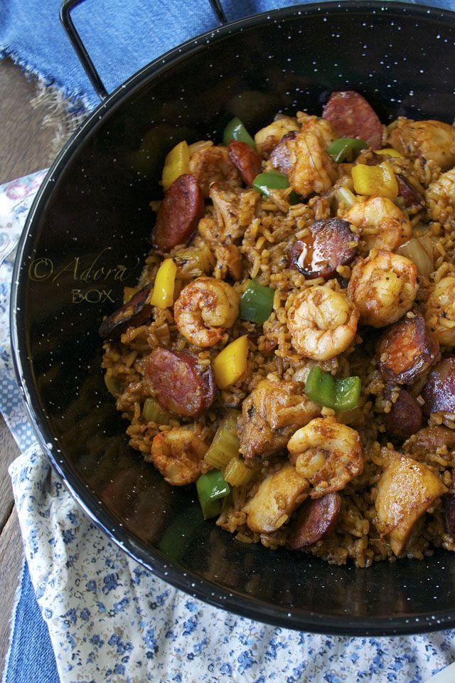 Cajun Jambalaya ~ this recipe is from scratch. I make jambalaya about ...