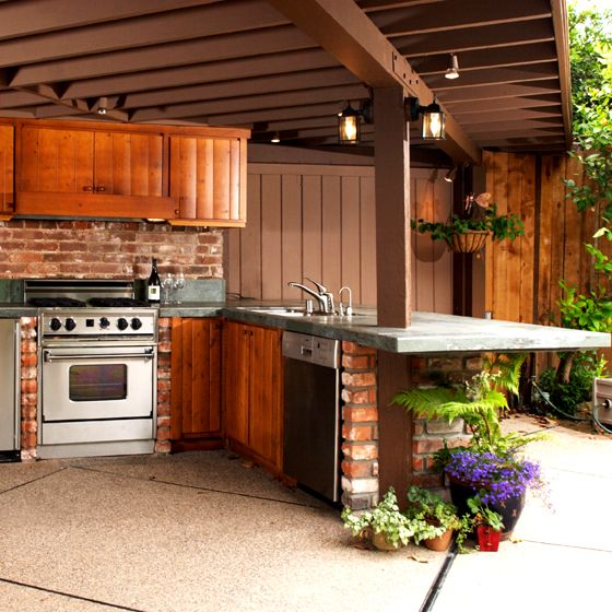 Pin by mystic garnet on outdoor oasis outdoor spaces for Outdoor kitchen ideas small spaces
