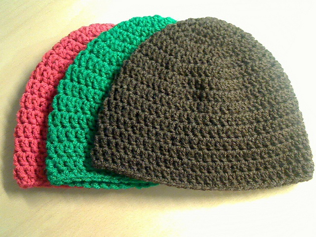 Easy Crochet Winter Hat Patterns : Quick Easy Winter Beanie Hooked on Crochet Pinterest
