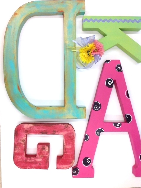 12 and 24 paper mache letters painted letters pinterest for 24 cardboard letters