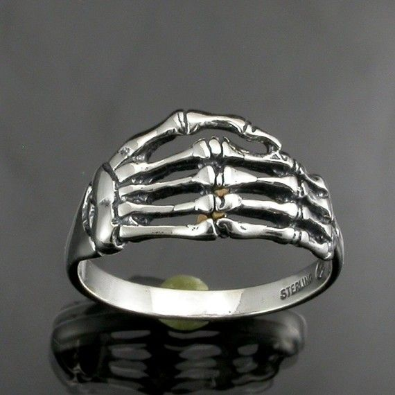 Sterling Silver Skeleton Hand Ring by JewelerJim on Etsy, $21.00