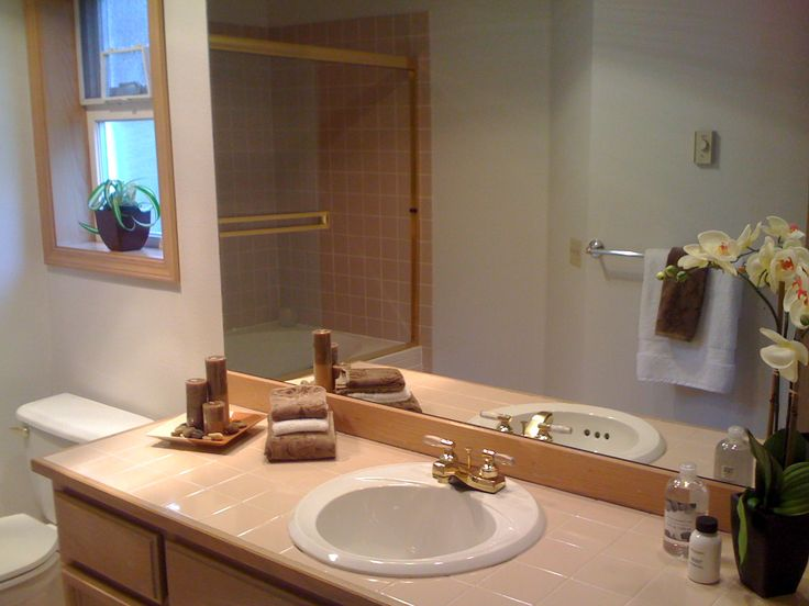 Staging bathroom sell this house pinterest - Staging a bathroom to sell ...