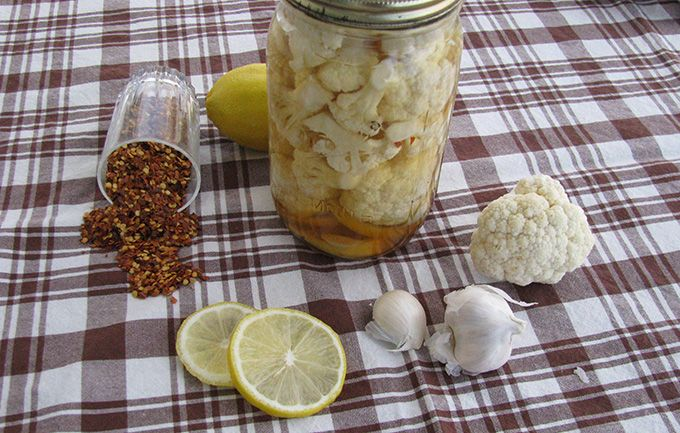 Refrigerator Lemony Pickled Cauliflower | Recipes to Try -Food Preser ...