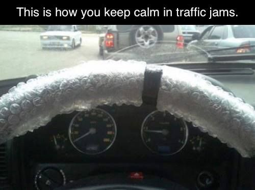 This is how you keep calm in traffic jams