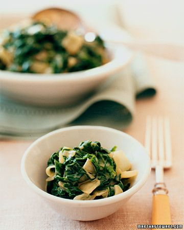 """Creamed"""" Spinach 