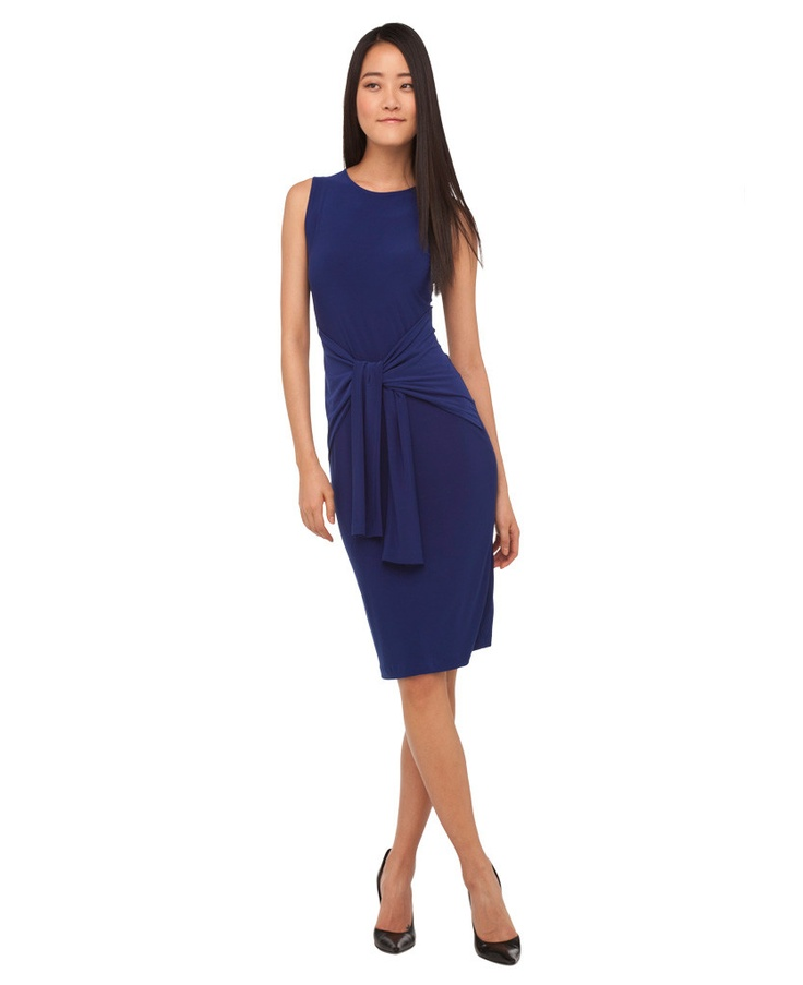 New style: Sleeveless Tie Front Dress - for a flattering, cinched waist look