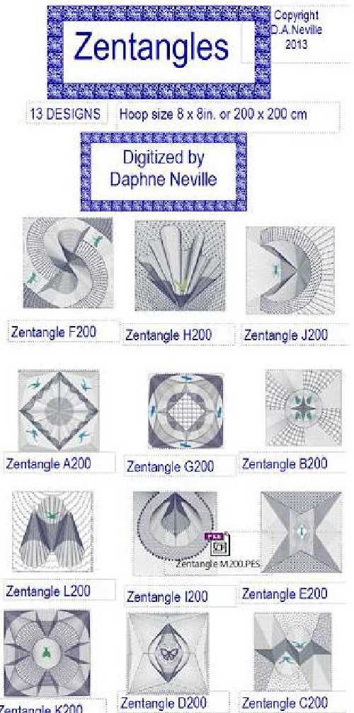 Zentangle designs embroidery pinterest