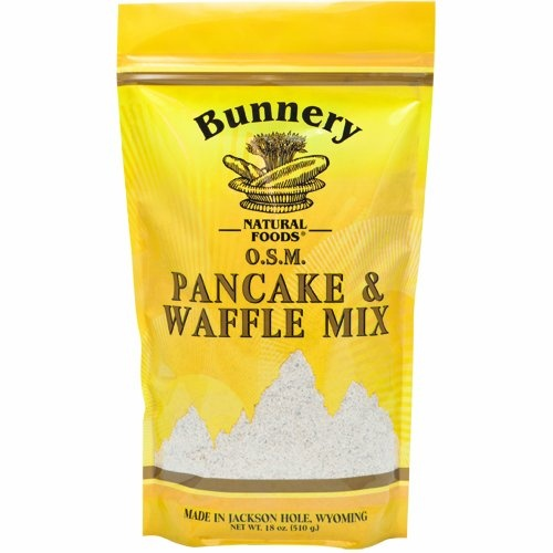 Bunnery Natural Foods Pancake and Waffle Mix, Whole Grain, 18-Ounce ...