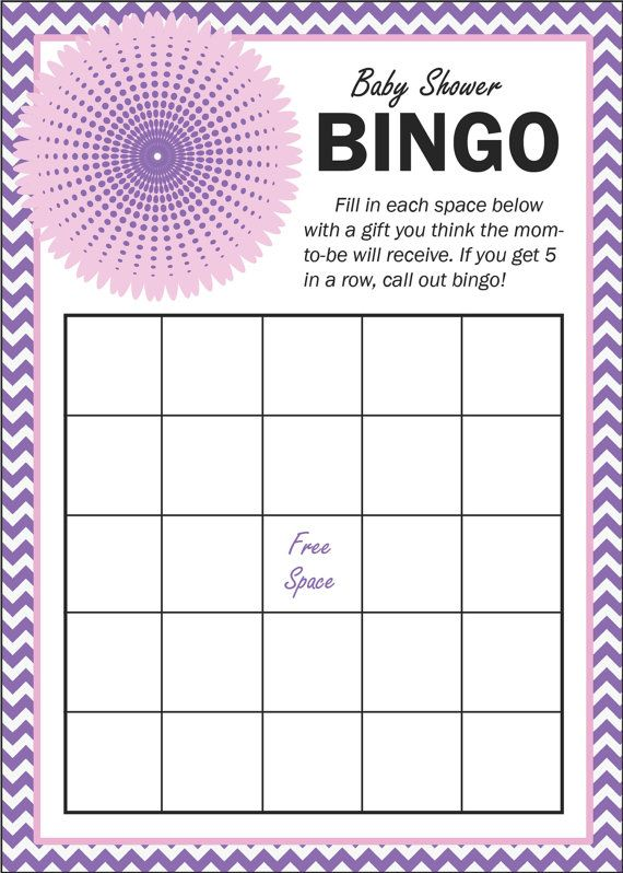 purple chevron baby shower bingo game by kadiesdesigns on etsy