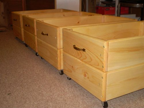 Under Bed Storage 12 Inches Rolling Drawer Storage Box For