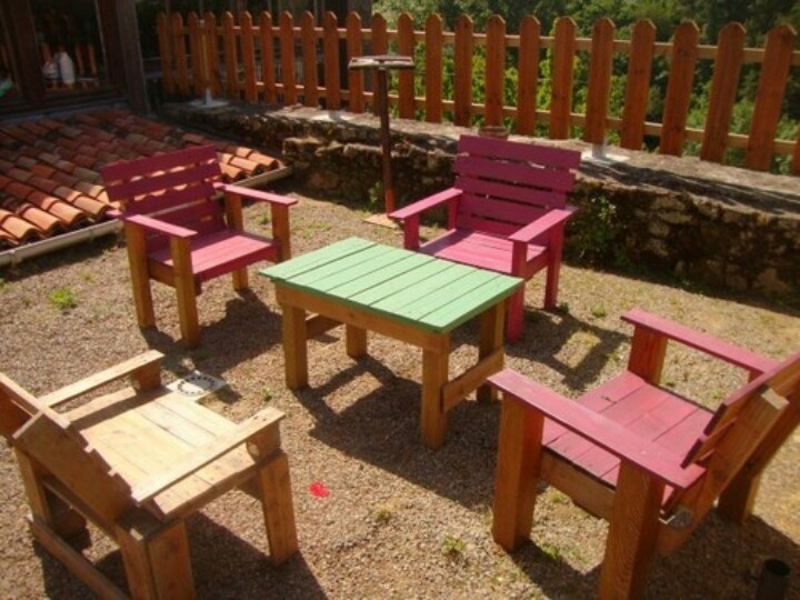 Outdoor furniture made from pallets pallet furniture