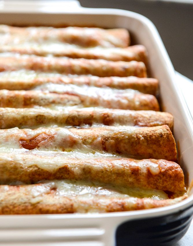 Lightened Up Beef Enchiladas with 10 Minute Enchilada Sauce | Recipe