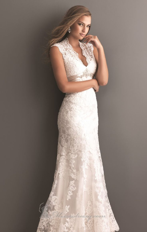 Allure 2619 by allure bridals romance allure bridals for Wedding dresses women over 40