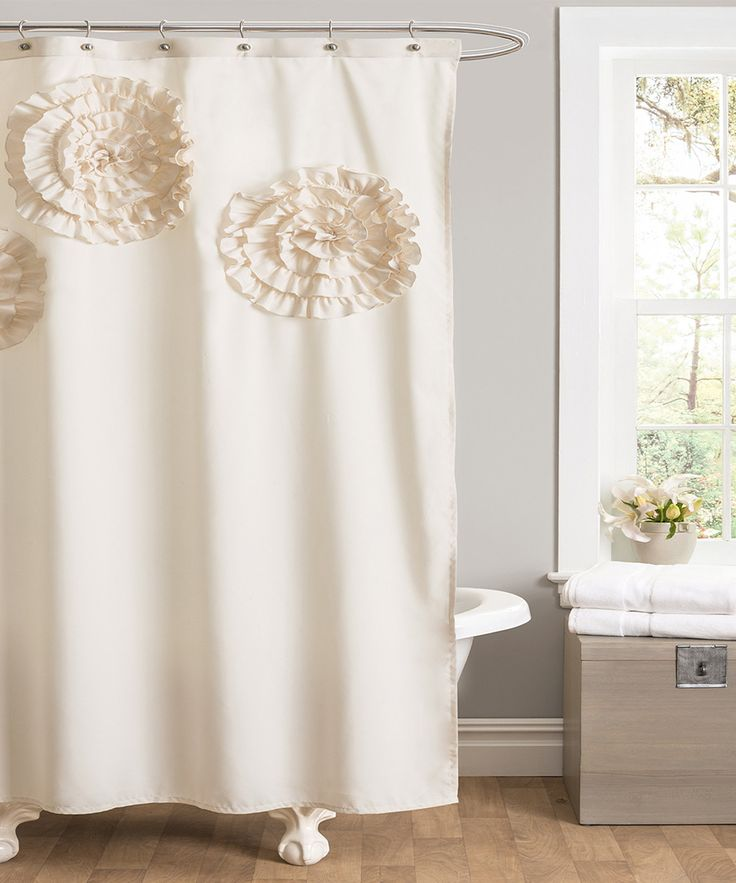 Flower shower curtains