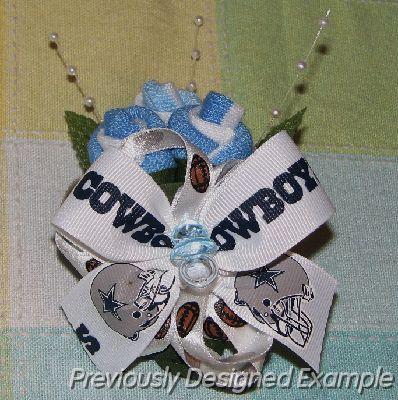 shower corsage baby shower wrist corsage boutonniere dallas cowboys