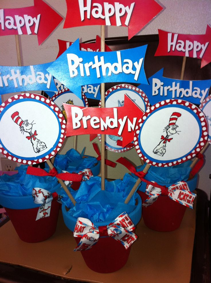 Dr seuss centerpieces for a birthday party table for B day decoration photos