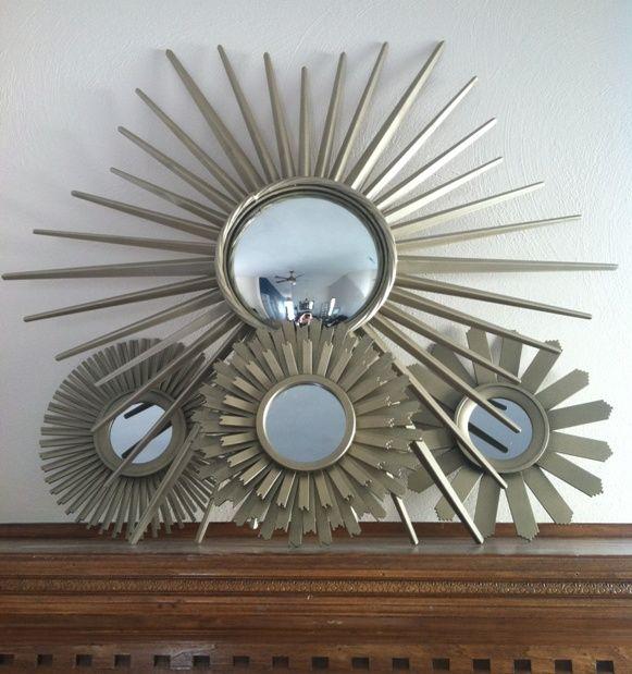sunburst mirror wall decor decor pinterest