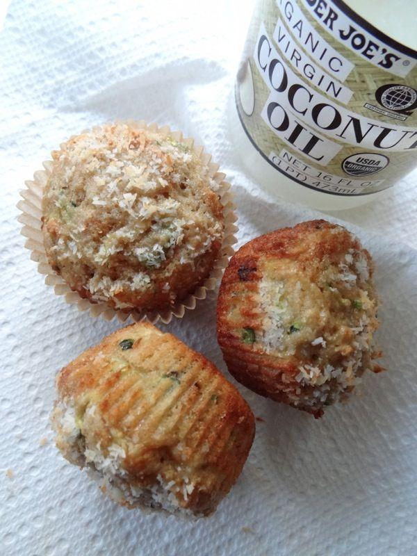 Coconut Zucchini Muffins | Make GF by substituting GF flour by weight