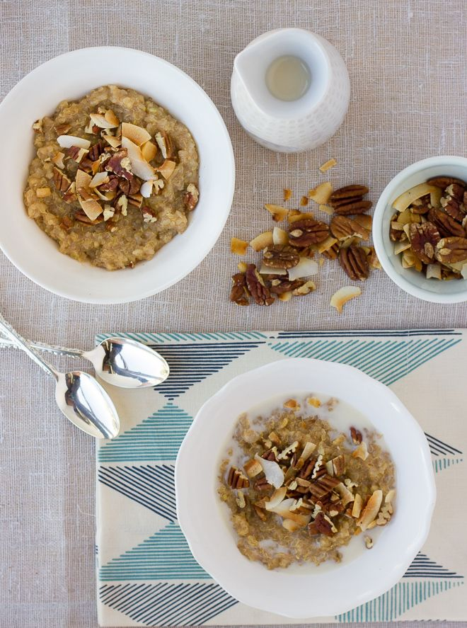 sweet brown rice & quinoa breakfast porridge {gluten-free, dairy-free} | Meaningful Eats